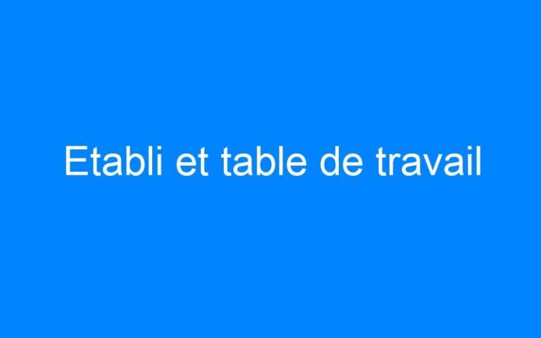 Etabli et table de travail