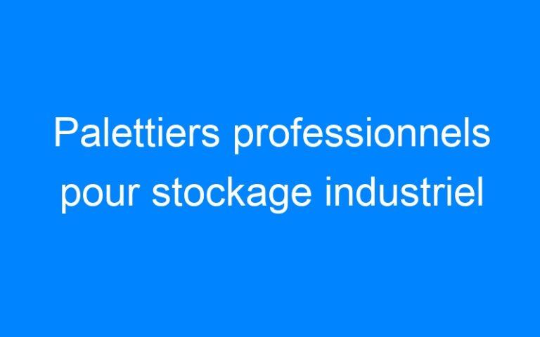Palettiers professionnels pour stockage industriel