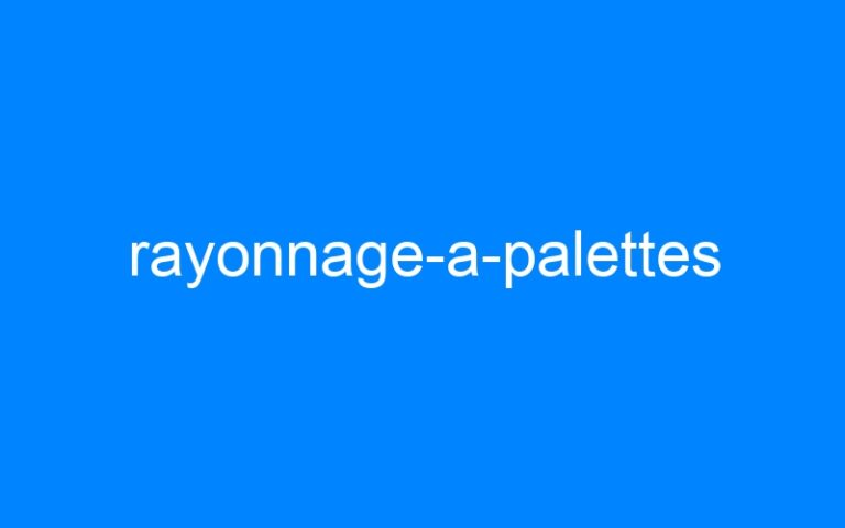rayonnage-a-palettes