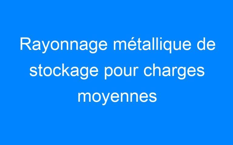 Rayonnage métallique de stockage pour charges moyennes