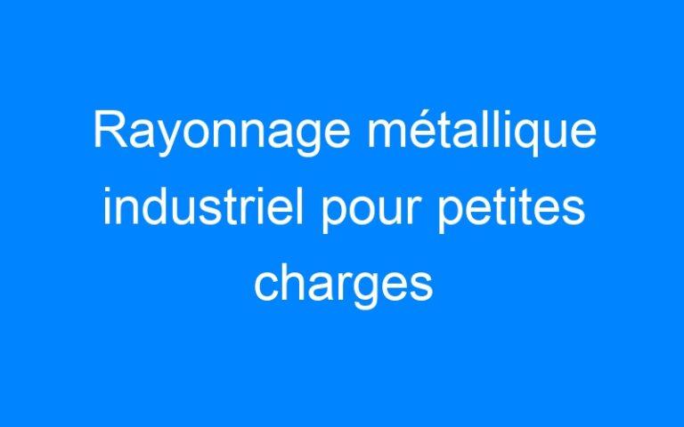 Rayonnage métallique industriel pour petites charges