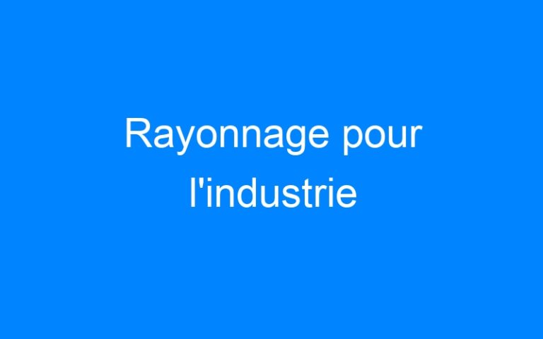 Rayonnage pour l'industrie