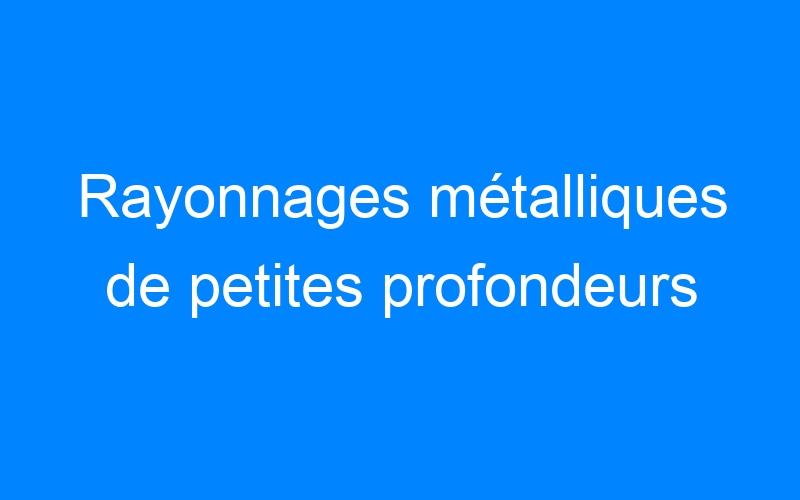 Rayonnages métalliques de petites profondeurs