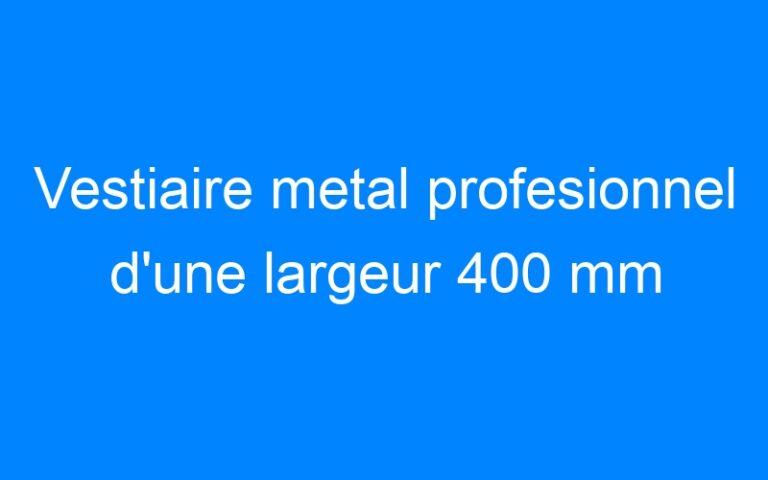 Vestiaire metal profesionnel d'une largeur 400 mm